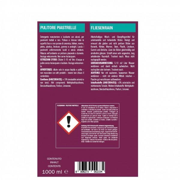 Unterhaltsreiniger und Wischpflege für glatte Böden 24 x 1 Liter Flaschen, trocknet rasch und streifenfrei, , Hochkonzentrat