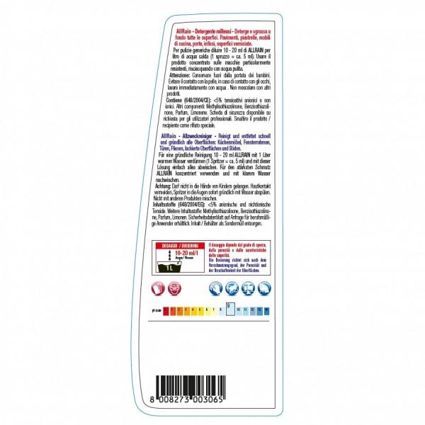 Alkalischer Allzweckreiniger, Konzentrat 24 x 1 Liter Flasche für alle waschbaren Oberflächen, Hochkonzentrat