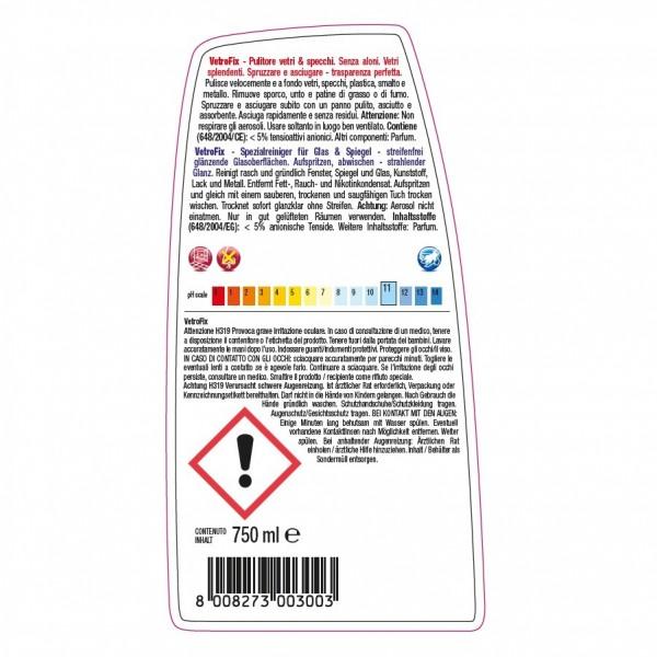 Alkoholreiniger, Glasreiniger, Spiegelreiniger 24 x 750 ml Sprühflasche, trocknet schnell und streifenfrei, sehr ergiebig