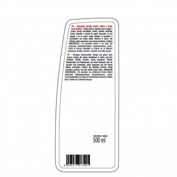 Flüssiges, sehr ergiebiges Scheuermittel, Poliermittel 24 x 500ml Flasche, für alle Oberflächen in Küche und Bad