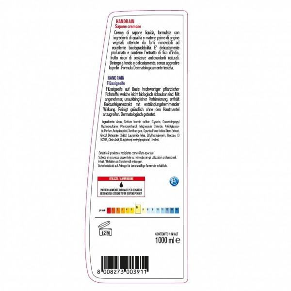 Flüssigseife für Seifenspender mit pflegenden Wirkstoffen, 24 x 1 Liter Flaschen, sehr ergiebig, hautschonend, klinisch getestet