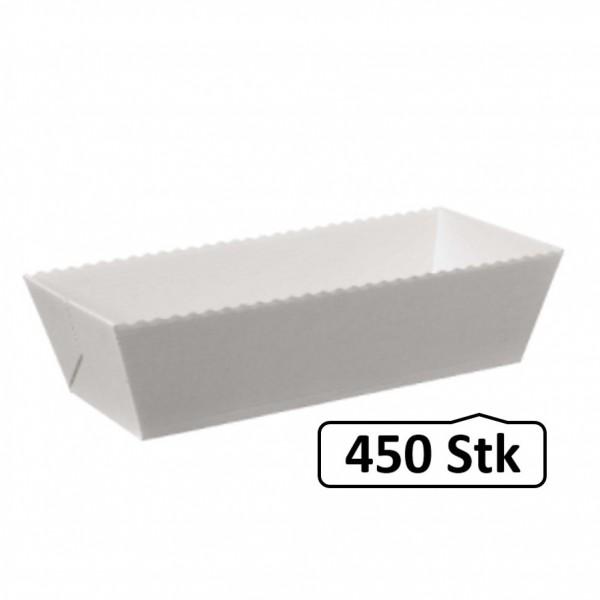 Papier-Backformen für Fleischkäse, 450 Stück, Volumen ca. 500g, Backofen geeignet, geschmacksneutral, aluminiumfrei