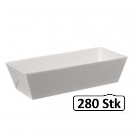 Papier-Backformen für Fleischkäse, 280 Stück, Volumen ca. 2000g, Backofen geeignet, geschmacksneutral, aluminiumfrei