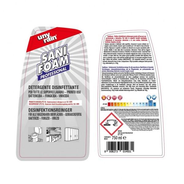 Alkalischer Profi-Kraftreiniger mit Aktivchlor, 24 x 750 ml Sprühflasche, für alle waschbaren und alkalibeständigen Oberflächen