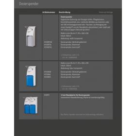 SET: Armhebelspender, EURO Spender, EDELSTAHL + 6x 0,5-Liter Haut- und Händedesinfektion - PRODUKTSET