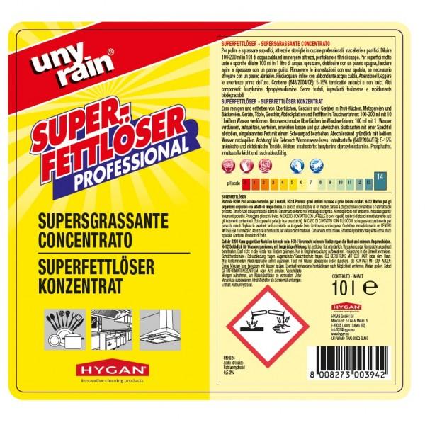 Konzentrierter Superfettlöser, 1x10 l Kanister, für alle grob verschmutzten Geräte und Oberflächen