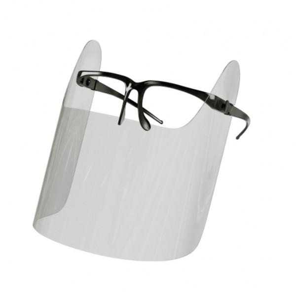 Brillen Schild Halbvisier, Gesichtsschild, Gesichtsvisier, Face Shield, 150 Stk., Mehrweg, optimale Sitz- und Passform