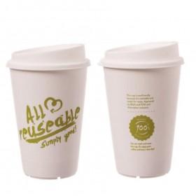 Mehrweg Kaffeebecher mit Deckel 12oz, Volumen: 0,30 l, Ø 80 mm, 350 Stk, Coffee To Go, nachhaltig genießen, Made in Germany