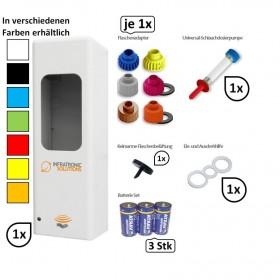 SET: Hygienespender SENSOR frei befüllbar mit Desinfektion, Seife, Cremes für Euroflaschen bis zu 1.000 ml