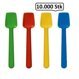 Eislöffel, Eisspaten Plastik gewölbt bunt, 10.000 Stück, 93 mm, stabil, Einweg, to go