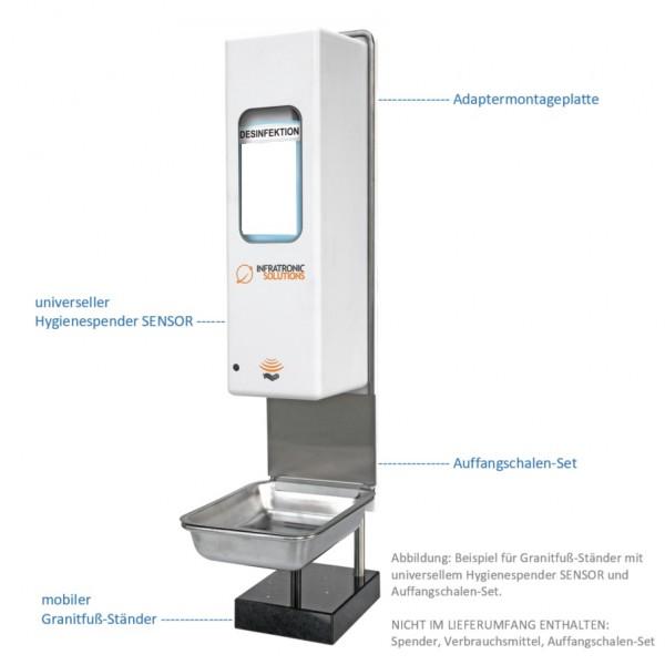 Mobilder Granitfuß-Ständer Tischständer für universellen Hygienespender SENSOR frei befüllbar, standsicher
