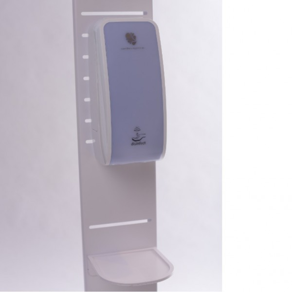 SET: Desinfektionsspender SENSOR Cosmos Blanc + Bodenständer aus Stahl + Maskenspender inkl. 50 Masken