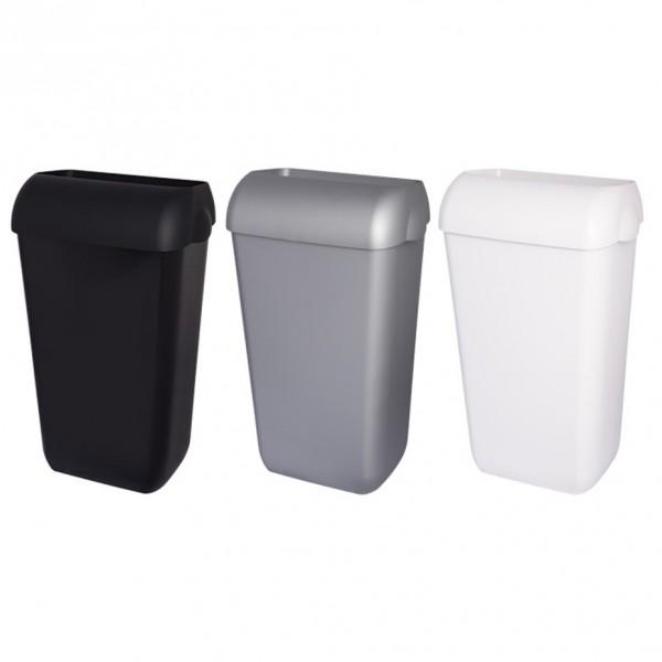Abfallbehälter, Mülleimer, Blanc, 25-Liter hängend, Wandmontage oder stehend, mit Deckel abnehmbar