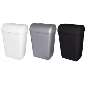 Abfallbehälter, Mülleimer, Blanc, 45-Liter hängend, Wandmontage oder stehend, mit abnehmbarem Deckel