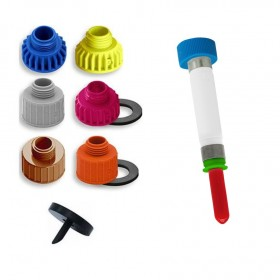 Pumpen-Adapter-Kombination, verschied. Flaschenadapter für den Messing verchromten Hygienespender SENSOR frei befüllbar