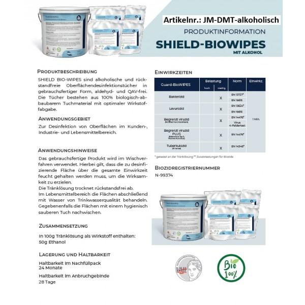 Desinfektionsmitteltücher im Eimer, 700 Tücher getränkt in Desinfektion alkoholisch (1 Eimer inkl. 5 Rollen je 140 Tücher)