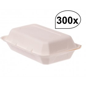 Lunchboxen aus Bagasse 300 Stück, to go, take away, biologisch abbaubar, umweltfreundlich