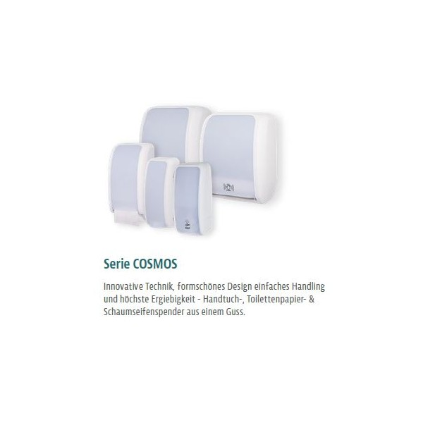 SET: Toilettenpapierspender Doppelrollen Blanc Cosmos verschied.Farben + 32 Toilettenpapierrollen Long Life 3L - PRODUKTSET