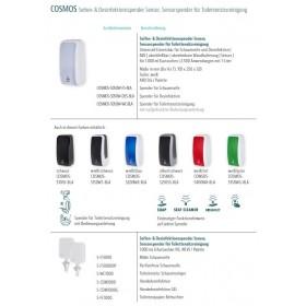 Schaum-Seifenspender, unschlagbar Ergiebig, 2.500 Anwendungen je 1-Liter, blitzschneller Kartuschenwechsel, Blanc Cosmos