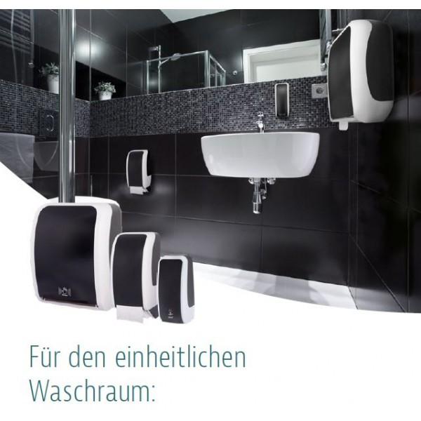 SET: Schaumseifenspender manuell, Blanc Cosmos versch. Farben+6x 1-Liter Schaumseife antibakteriell - PRODUKTSET