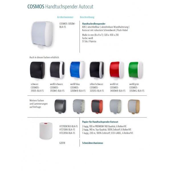 """Handtuchrollen """"Smart ECO"""" 6 Rollen je SET, 1-lagig, 230m je Rolle, 100% Zellstoff, für Blanc Cosmos Handtuchspender"""