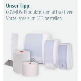SET: Handtuchrollenspender Autocut, Blanc Cosmos verschied. Farben + 6 Handtuchrollen RREMIUM TAD - PRODUKTSET