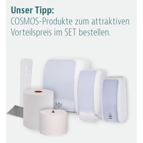 SET: Handtuchrollenspender Autocut, Blanc Cosmos verschied. Farben + 6 Handtuchrollen PREMIUM TAD - PRODUKTSET