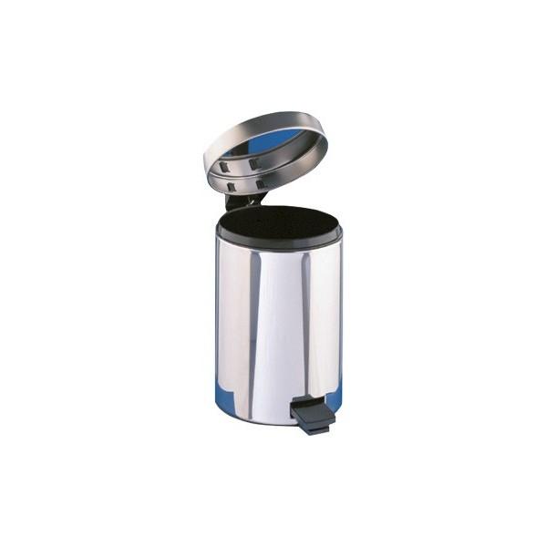 Badezimmer Abfallbehälter, Abfalleimer 12 Liter mit Fußpedal und Einsatzeimer