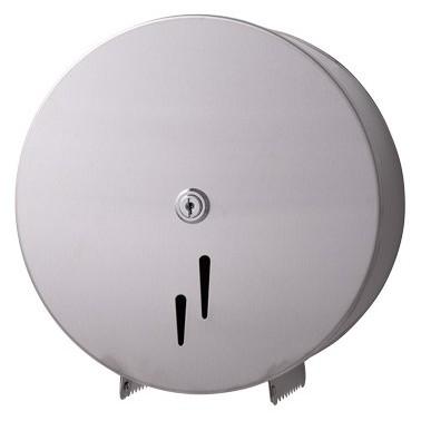 Jumbo-Toilettenpapierspender Midi, Edelstahl matt, Kapazität: Ø max. 240 mm je Rolle