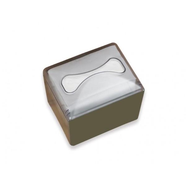 Serviettenspender Blanc Value für ca. 200 Blatt, stehend, mit Werbefläche, Einzelblattausgabe, Pushfunktion
