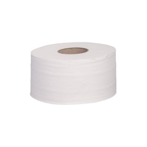 Toilettenpapier Jumborollen mini SET, 2-lagig, 130m je Rolle, reiner Zellstoff