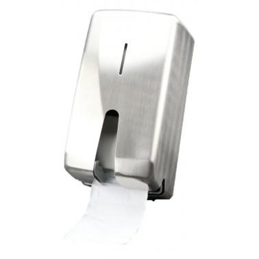 Toilettenpapierspender Design FUTURA, robust Edelstahl gebürstet, Kapazität: 2 Standard Haushaltsrollen