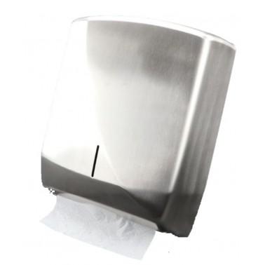 Falthandtuchspender Design FUTURA , Edelstahl gebürstet, äußerst robust, Kapazität: 600 Faltpapiere