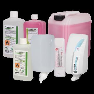 Desinfektionsmittel & Hautpflege für Großmärkte & Baumärkte