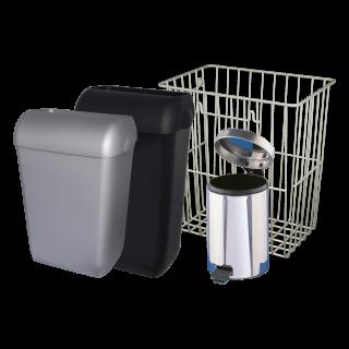 Mülleimer, Abfallbehälter, Gitterkörbe